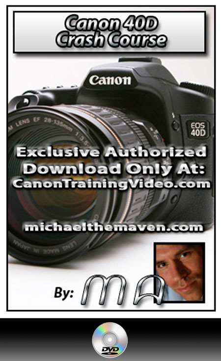 Canon 40D DVD Crash Course DVD + Download