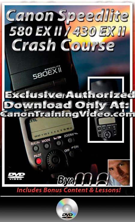 Canon 580 & 430 EX II Speedlite DVD Crash Course DVD + Download