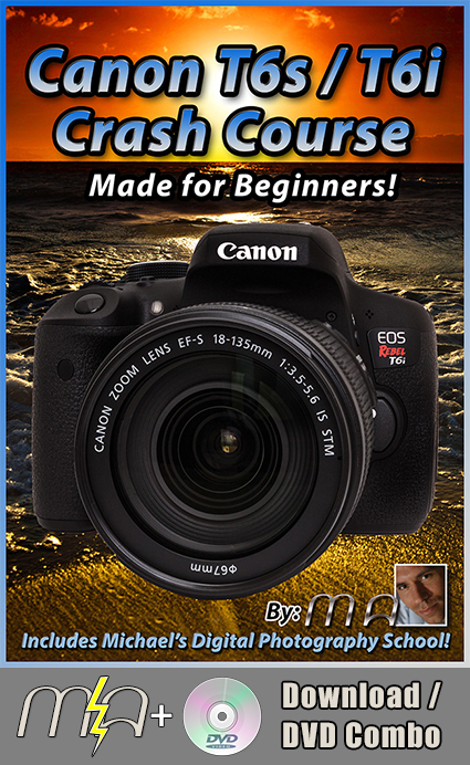 Canon T6s / T6i Crash Course DVD + Download